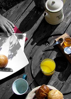 rayon de soleil au petit déjeuné
