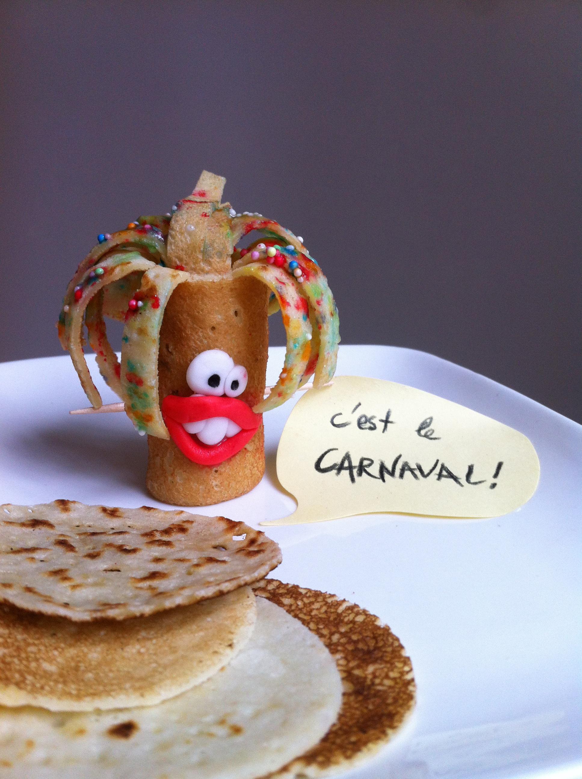 monsieur carnaval fait en crêpe